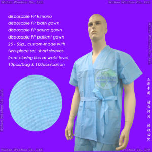 Disposable Nonwoven Patient Gown pictures & photos