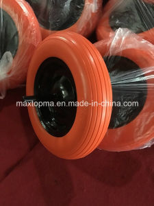 Factory 3.50-8 Flat Free PU Foam Wheel pictures & photos