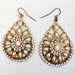 New Item Pearl Glass Stones Oval Shape Fish Hook Fashion Jewellery Earring pictures & photos