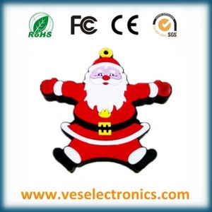 in Stock! Santa Claus 2GB 4GB USB Custom Soft PVC Fingerprint USB Gift pictures & photos