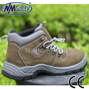 Nmsafety Nubuck Leather Feet Protection Steel Toe Safety Work Shoes pictures & photos