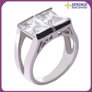 Two Crystals Men Jewelry Wholesale Promotion Rings