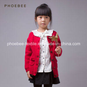 Knitted Wool Children Apparel Kids Winter Coats for Girls pictures & photos
