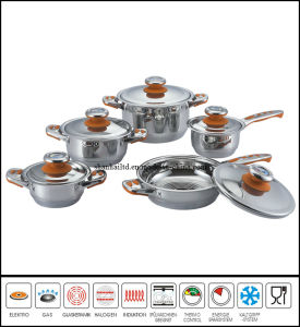 Stainless Steel Cookware Set 7 Step Bottom pictures & photos