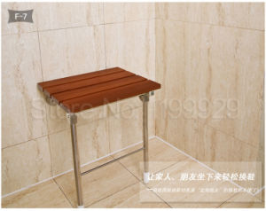 Multifunction Solid Wood Bathroom/Corridor Seat Folding Utility Convenient Wall Mounted Shower Chair pictures & photos