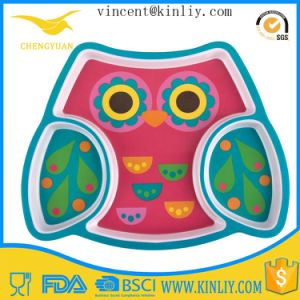 FDA Free Cartoon Design Plastic Dinner Plate for Kid pictures & photos