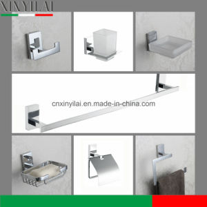 Rectangle Brass Suction Chromed Bathroom Accessory Set pictures & photos