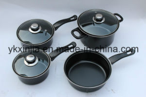 Kitchenware 7PCS Carbon Steel Non-Stick Coating Cookware Set pictures & photos