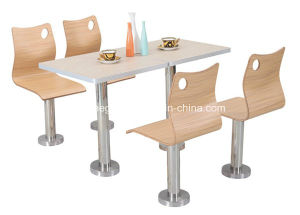 Wood Furniture Dining Table Set (FOH-BC04) pictures & photos