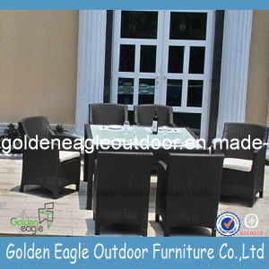 Polyethylene Furniture Rattan Furniture Dining Set pictures & photos