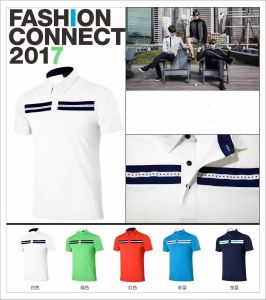 2017 Golf T-Shirt Short Sleeve Dry Fit Summer Sports Shirts pictures & photos