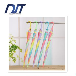 Rainbow Transparent Umbrella Multicolor Splicing Straight Rainbow Umbrella Promotion Gifts pictures & photos