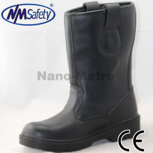 Nmsafety Cow Leather High Safety Shoes Work Boots pictures & photos
