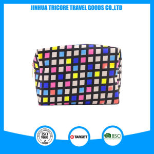 Wholesale Microfiber Material Square Cosmetic Bag pictures & photos