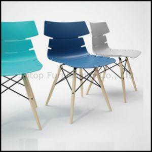 Modern Beech Wood Leg Plastic Chair Wholesale (SP-UC491) pictures & photos