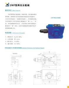 2WF Two Way Distribution Valve Hydraulic Selector Valve Components pictures & photos