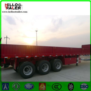 Heavy Duty Trailer Chassis 60ton Sidewall Detachable Cargo Semi Trailer pictures & photos