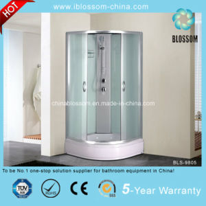 New Safe Glass and White ABS Tray Complete Shower Room (BLS-9805) pictures & photos