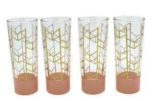 New Hot Shooter Glass with Gold Chervon Logo pictures & photos
