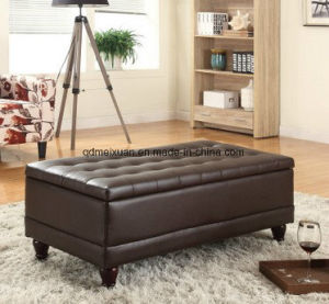 European-Style Solid Wood Storage Push Paper Art End of The Bed Pedal Clothing Store Receive Stool in Shoes Stool Sofa Sofa (M-X3474) pictures & photos