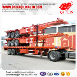 High Quality 40FT 3axle Skeleton Semi Trailer pictures & photos