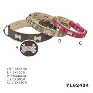 Luxury PU Dog Collars, Leather Dog Collar (YL82404) pictures & photos