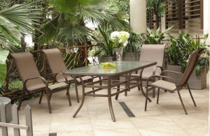 Outdoor Garden Furniture/ Garden Dining Set/Textilene Fabric Chair (DT001)