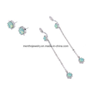 Hot Sale Simple and Elegant Inaid Rhinestone Detachable Long Thread Earrings pictures & photos