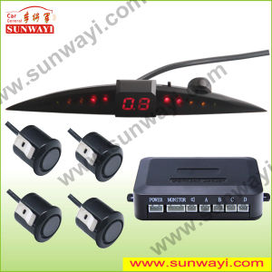 Electromagnetic Parking Sensor Hot Sell LED Display with Four Sensors, Good Quality and Favorable Price