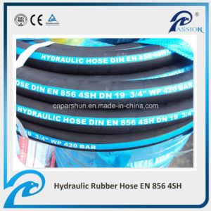 Manufacturer of High Pressure En856 4sh Industrial Rubber Hydraulic Hose pictures & photos