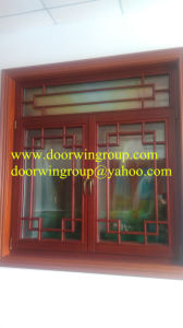 Ellipse Wood Aluminum Window Design, Standard European Style High Quality Wood Aluminum Shaped Window pictures & photos