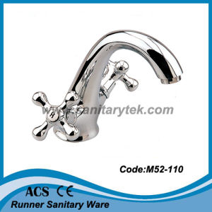 Double Handle Basin Mixer (M52-110) pictures & photos