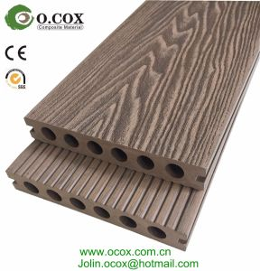 wood grain embossed wpc outdoor flooring wood plastic composite decking