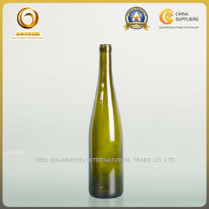 2017 Dark Green 750ml Cork Wine Glass Bottle (441) pictures & photos