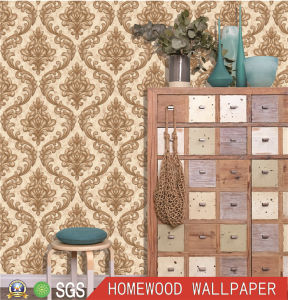 Home Decoration Deep Embossed Wall Paper with High Quality pictures & photos