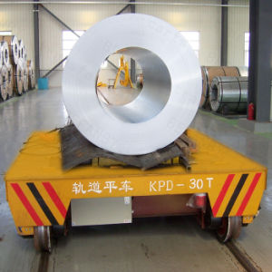 Large Table AC Sliding Line Powered Material Handling Transfer Trailer on Rails pictures & photos