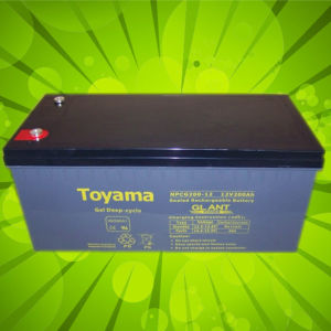 12V200ah Advanced Solar Power Storage Gel Batteries pictures & photos