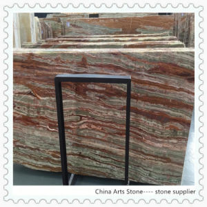 Chinese Antic Green Onxy Marbke Slab for TV Wall Tile pictures & photos