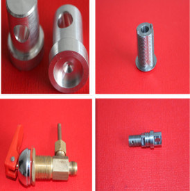 CNC and Lathing Machining Part with Metal