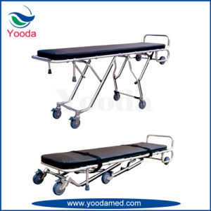 Aluminum Alloy Funeral Stretcher with Body Bag pictures & photos