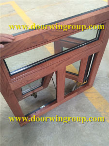 USA Red Oak Wood Aluminum Casement Window pictures & photos