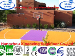Recyclable Outdoor Suspension Basketball Court Floor pictures & photos