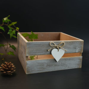 Antique Vintage Wooden Storage Box in Pinewood pictures & photos