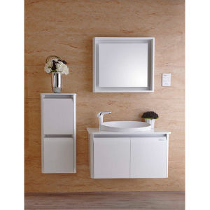 2014 Oppein Modern White Shiny Lacquer Double Bathroom Cabinet (OP14-007A) pictures & photos