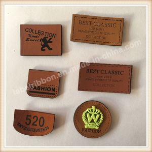 Custom Rubber Logo PU Leather Label pictures & photos