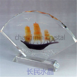 Tr036 Sectorial Form Crystal Award for Souvenir