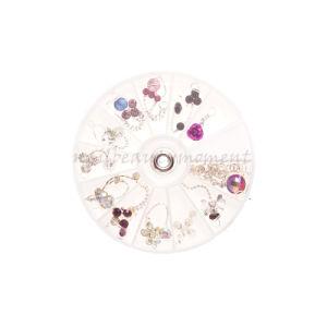 2016 Art Nail Metal Rhinestone Dangles Wheel Decoration Products (M19)