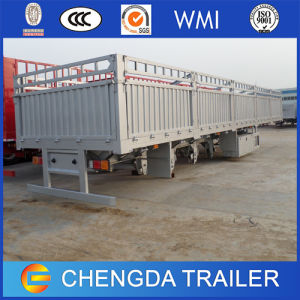 Bulk Goods Transport Cargo Stake Side Wall Fence Semi Trailer pictures & photos