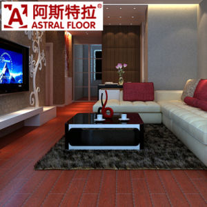 Classic Embossed Red Color Laminate Flooring pictures & photos