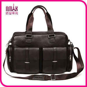 Hand Made Leather Briefcase15 Inches Leather Laptop Bag Leather Satchel Cross Body Shoulder Bag pictures & photos